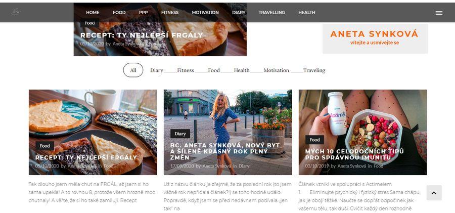 Aneta Synková - nejlepší blogy o fitness