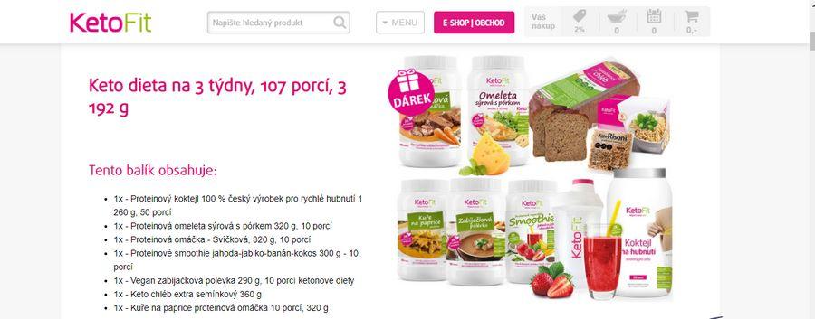 KetoFit keto dieta na 3 týdny